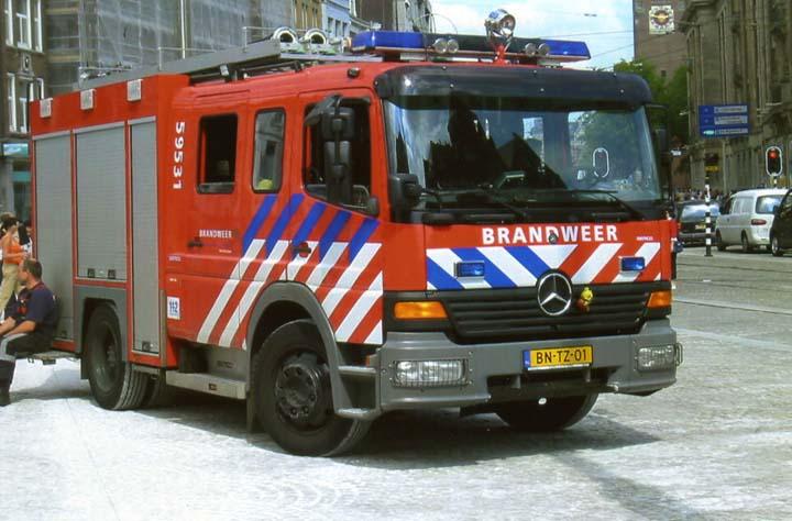 Amsterdam Fire brigade Mercedes Atego Pump