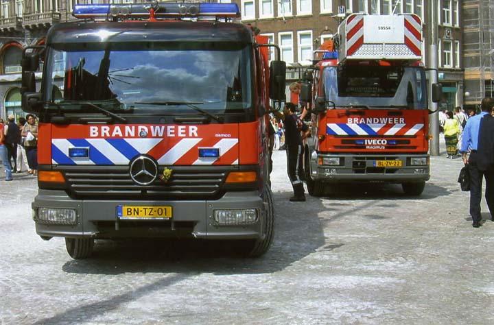 pump and TL in Dam Square, Amsterdam