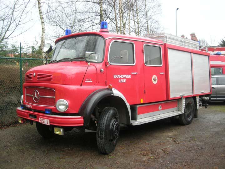 Fire Engines Photos Brandweer Lede Belgium Mercedes 1113