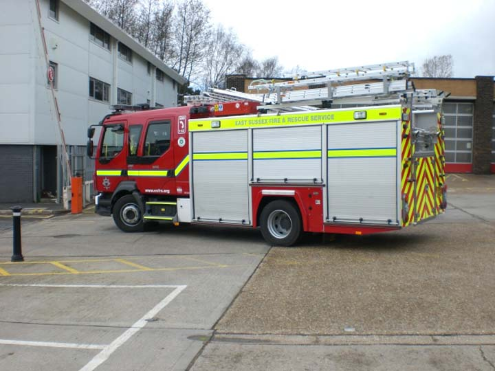 East Sussex Volvo FLL-15 Hove Fire station
