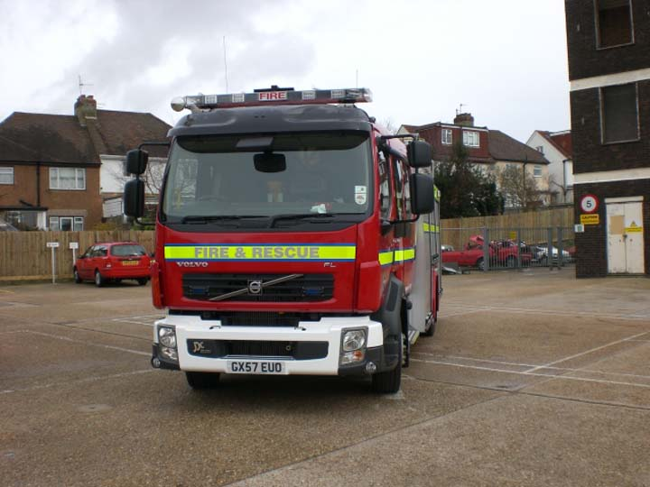 East Sussex Volvo FLL-15 GX57EUO Hove Fire station