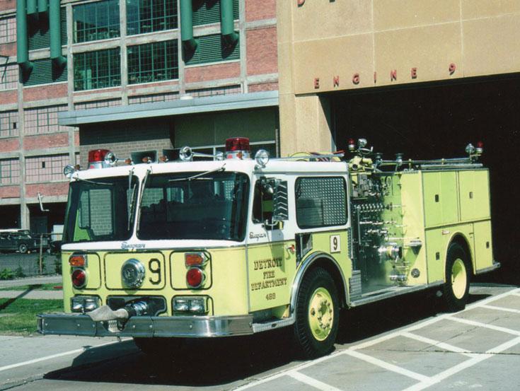 Detroit Michigan Seagrave Fire Engine