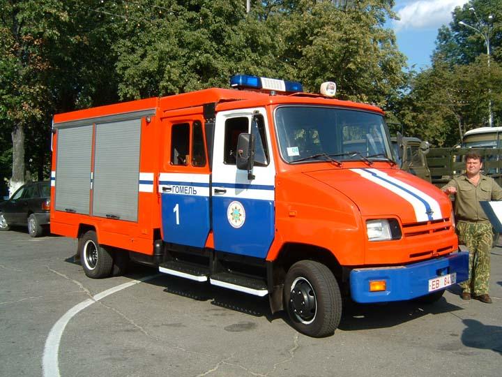 Firemans day Gomel Belarus Fire engine