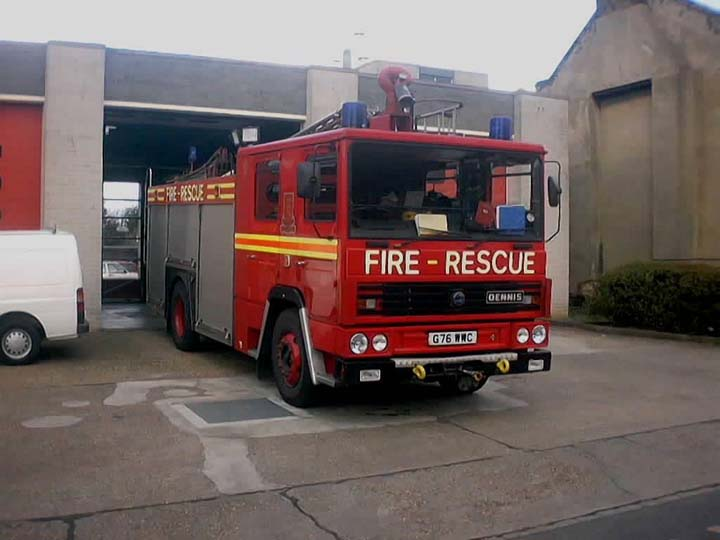 Essex fire and rescue Dennis