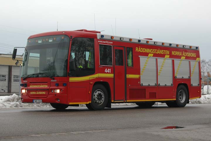 Volvo B12M rescue pumper Färgelanda (Sweden)