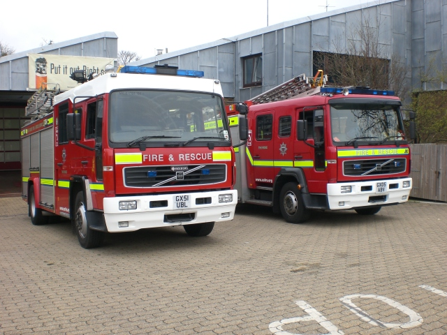 East Sussex FRS Volvo The Ridge Fire station