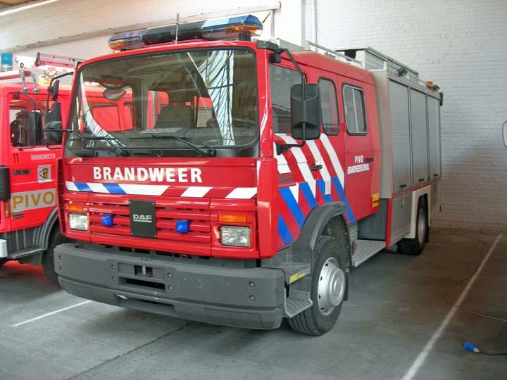 Brandweerschool PIVO Asse Belgium DAF