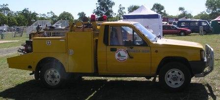 Queensland rural fire brigade triton 4x4