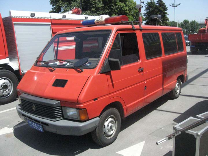 This Renault Master van of Fire and rescue brigade Vozdovac is used as a