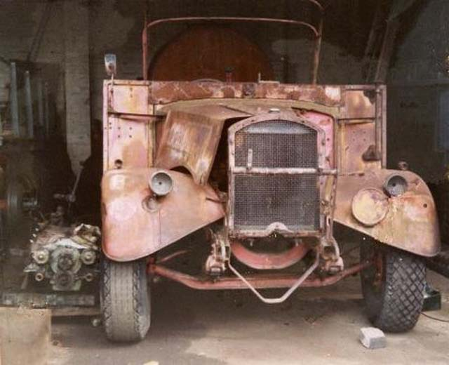 Fordson WOT 1 before restoration.