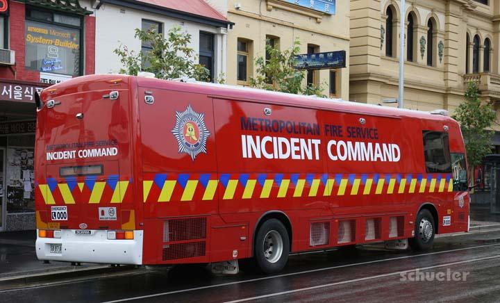 SAMFS Incident Command Scania Adelaide Australia