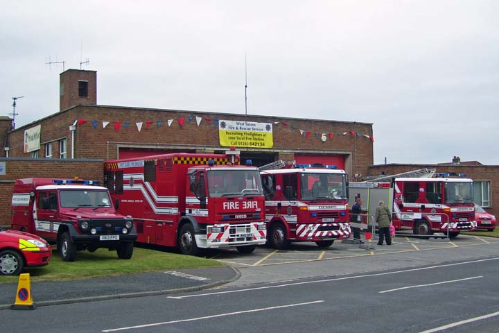 Fire station Shoreham-by-Sea West Sussex FRS