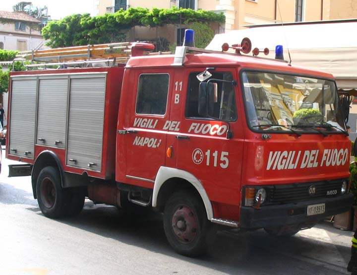 Vigili del Fuoco Sorrento Italy Iveco OM