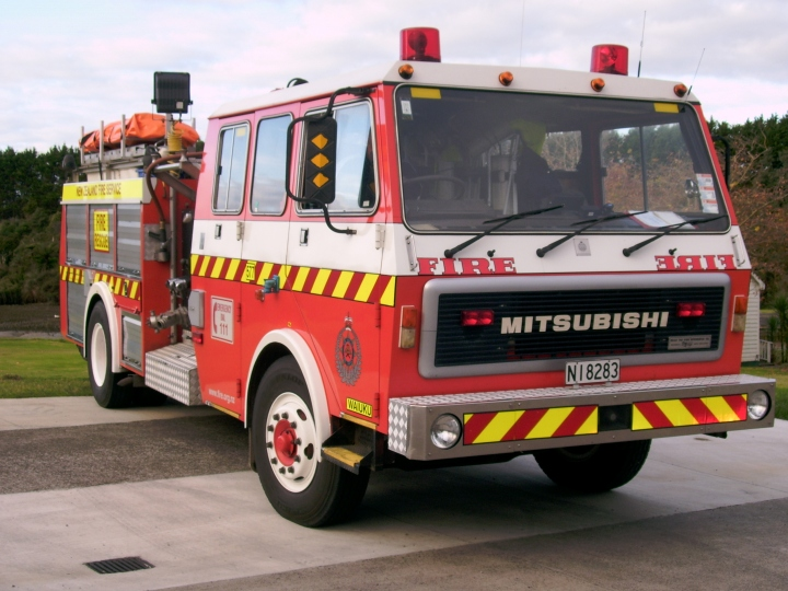 Waiuku Volunteer Fire Brigade pumper - New Zealand