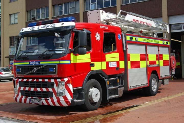 Cork City Fire brigade Volvo FM9 Bronto Angloco