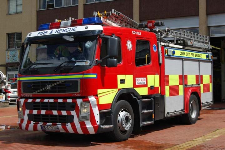 Cork City Fire brigade Volvo FM9 WrT/L