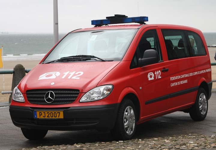 Fire engines photos mercedes benz vito fire brigade for Mercedes benz luxembourg